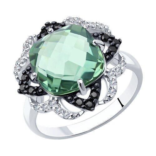 Кольцо из серебра с миксом камней