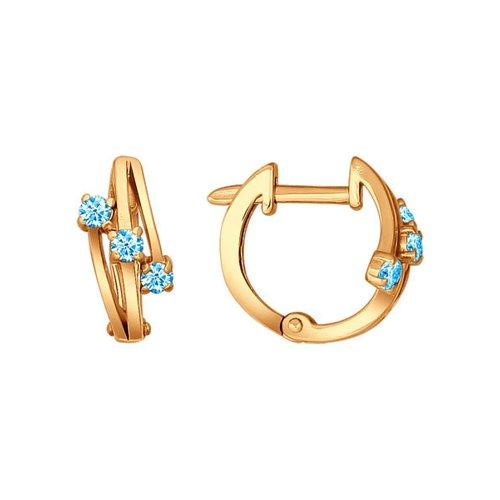 Серьги SOKOLOV из золочёного серебра с голубыми фианитами кроссовки fila fila fi030awggcj0