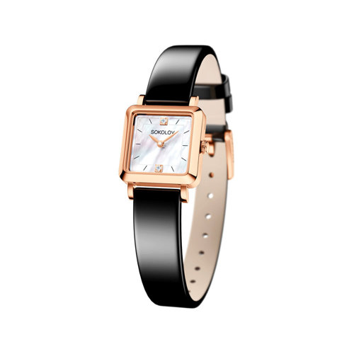 Женские золотые часы (231.01.00.000.05.04.2) - фото