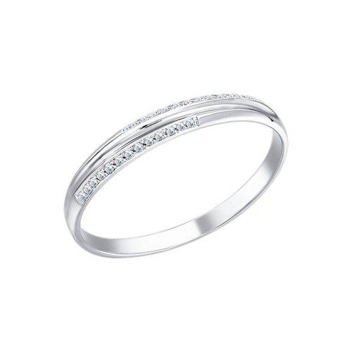 цена на Тонкое обручальное кольцо с бриллиантами SOKOLOV