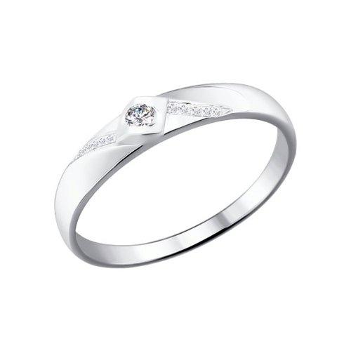 Обручальное кольцо SOKOLOV из белого золота с бриллиантами обручальное кольцо sokolov из золота с бриллиантами