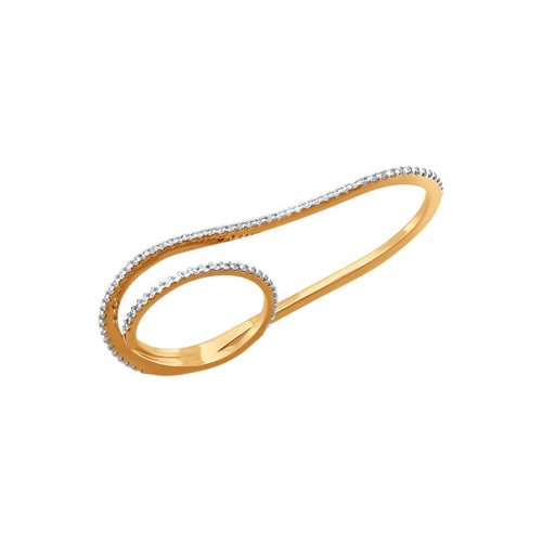 Золотое кольцо на два пальца SOKOLOV