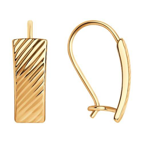 Серьги из золота с алмазной гранью 027076 SOKOLOV фото