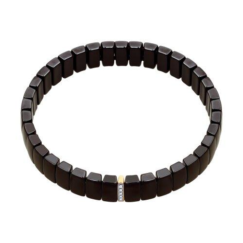 Керамический браслет с золотом и бриллиантами (6055005) - фото