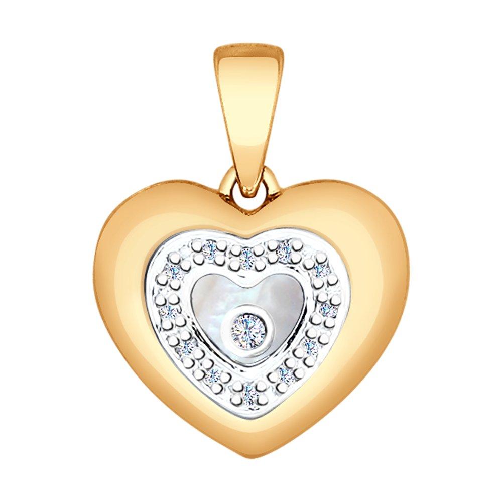 цена на Золотая подвеска «Сердце» SOKOLOV