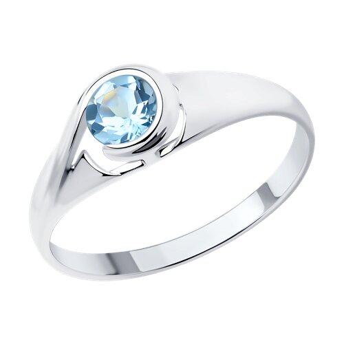 Кольцо из серебра с топазом (92011661) - фото