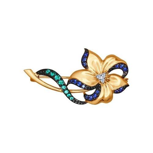 Брошь «Цветок» с бриллиантами