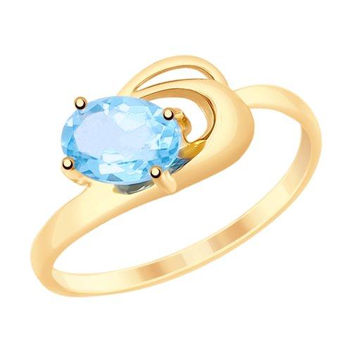 Кольцо из золота с топазом (715287) - фото