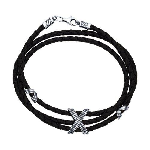 Браслет из чернёного серебра (95050005) - фото