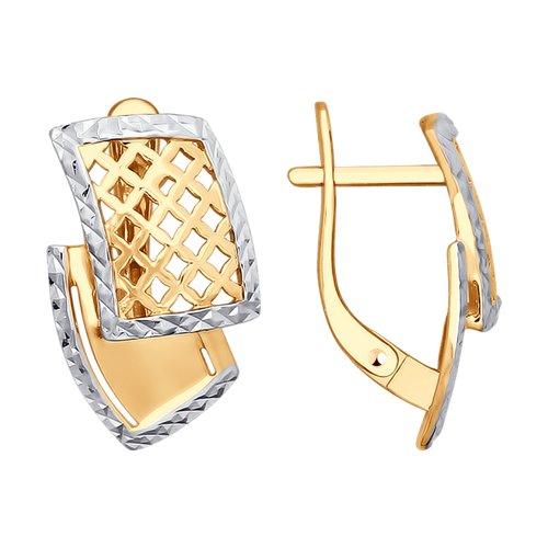 Серьги из золота с алмазной гранью (027787) - фото