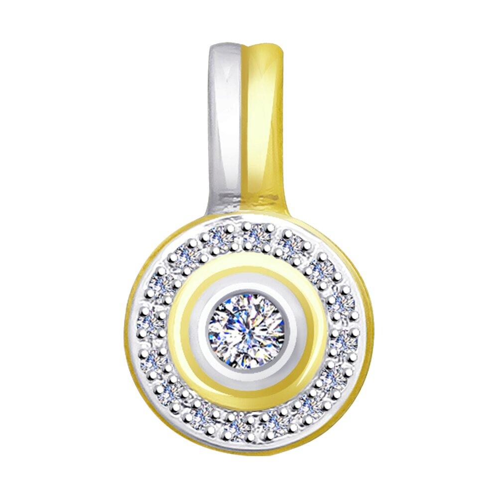 Фото - Подвеска SOKOLOV из желтого золота с бриллиантами подвеска sokolov из желтого золота с бриллиантами и авантюрином