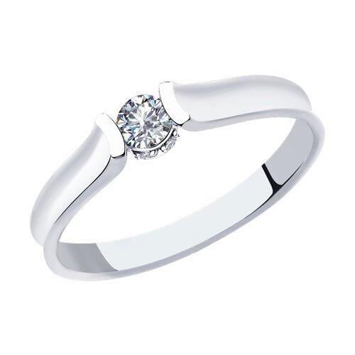 Кольцо из белого золота с бриллиантами (1011882) - фото
