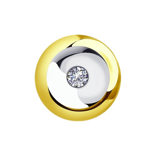 Подвеска из жёлтого золота с бриллиантом (1030717-2) - фото