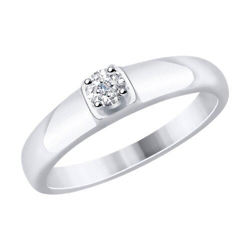 Кольцо из белого золота (1110195) - фото