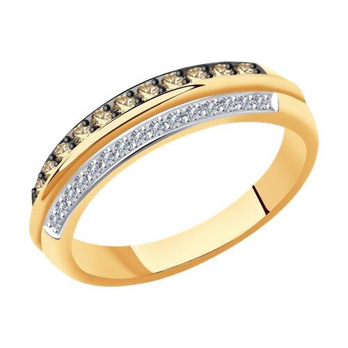 Кольцо из золота с бриллиантами (1011972) - фото