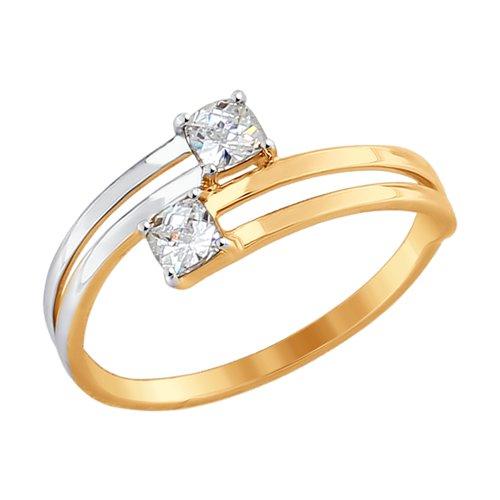 Кольцо из золота со Swarovski Zirconia (81010324-4) - фото