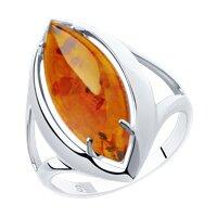 Кольцо из серебра с янтарём