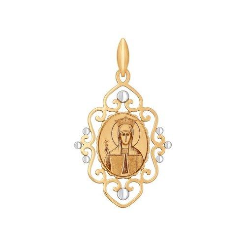 Иконка из золота с алмазной гранью и лазерной обработкой (101738) - фото