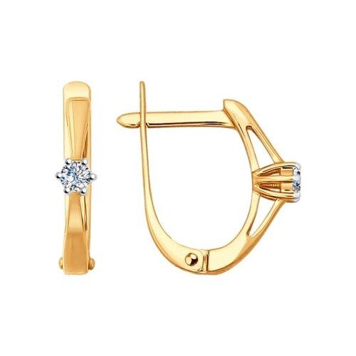 Серьги из золота с бриллиантами (1020891) - фото