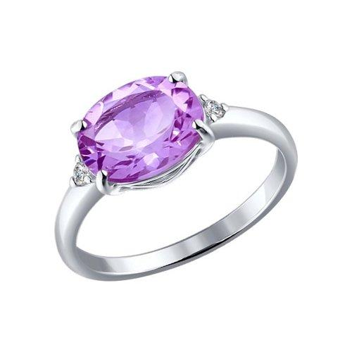 Фото - Серебряное кольцо с аметистом SOKOLOV серебряное кольцо с сердечками sokolov