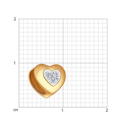 Подвеска-шарм с бриллиантами «Сердце»
