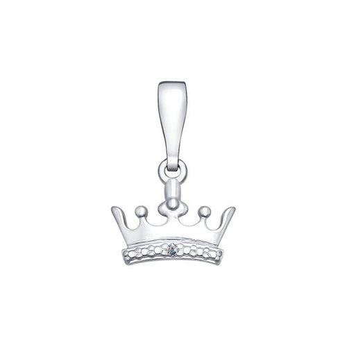 Подвеска «Корона» из серебра