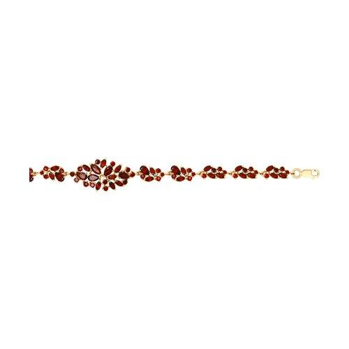 Браслет из золота с гранатами (750255) - фото