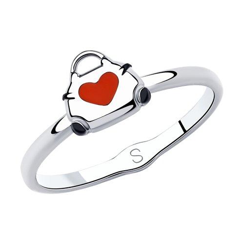 Кольцо из серебра с эмалью (94013010) - фото