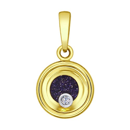 Подвеска из комбинированного золота с миксом камней