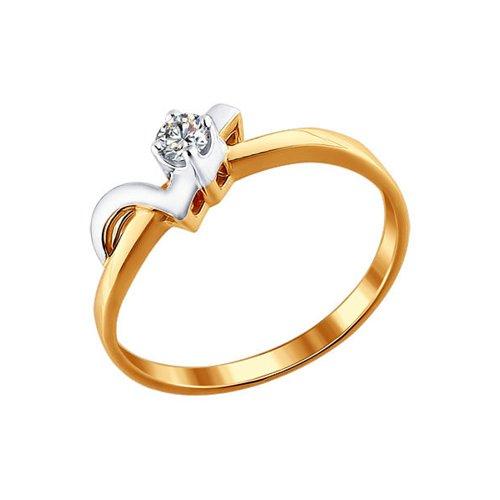 Помолвочное кольцо SOKOLOV из комбинированного золота 585 пробы