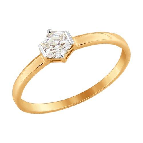 Кольцо из золота со Swarovski Zirconia (81010337) - фото