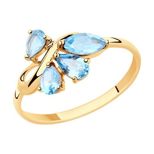 Кольцо из золота с топазами (715430) - фото