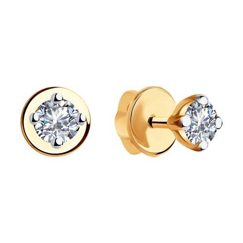 Серьги из золота с бриллиантами (9020016) - фото №2