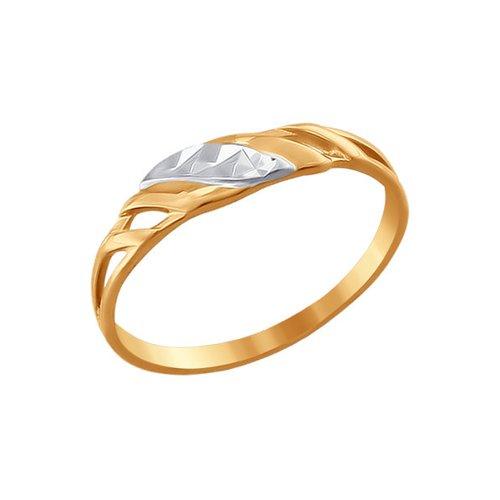Кольцо из золота с алмазной гранью (010883) - фото