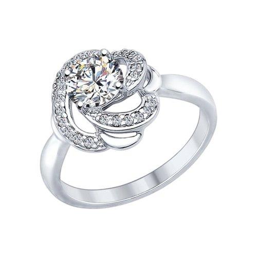 Кольцо из серебра с фианитами и Swarovski Zirconia