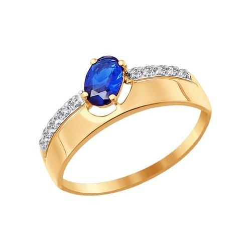 Фото - Кольцо SOKOLOV из золота с синим фианитом кольцо sokolov из комбинированного золота с синим фианитом