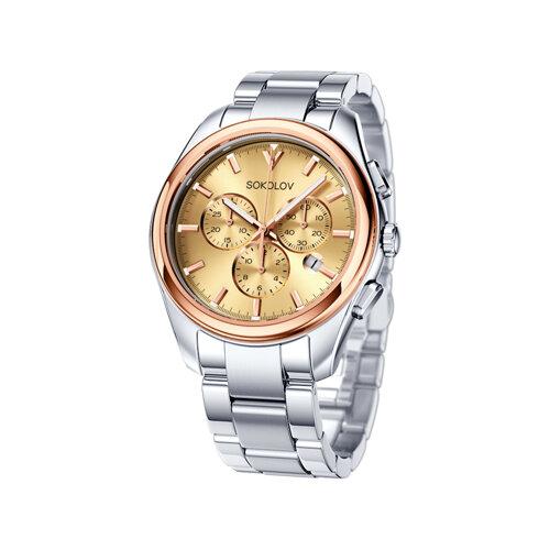 Мужские часы из золота и стали (139.01.71.000.02.01.3) - фото
