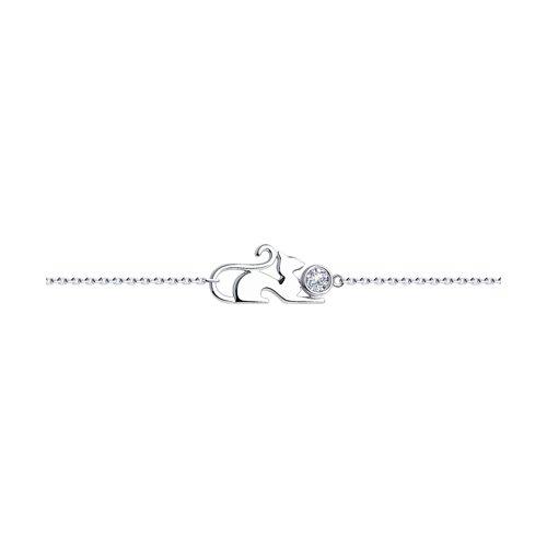 Браслет из серебра с фианитом (94050645) - фото