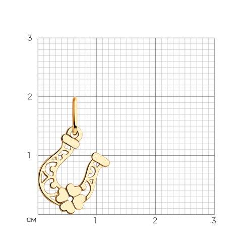 Подвеска «Подкова» из золота (035141) - фото №2