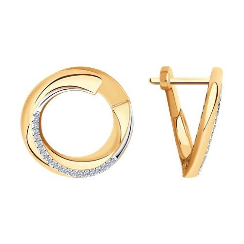 Серьги из золота с бриллиантами 1021531 SOKOLOV фото