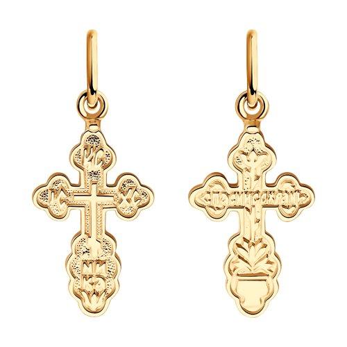 Золотой крест без распятия  (120085) - фото