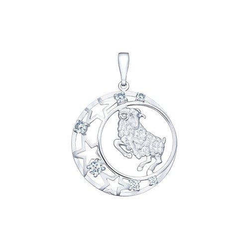 Подвеска из серебра «Знак зодиака Овен»  (94030086) - фото