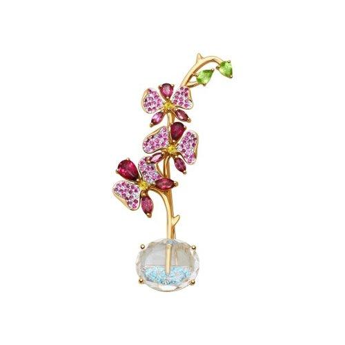 Брошь «Орхидея» из золота