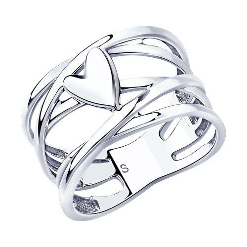 Кольцо из серебра (94013050) - фото