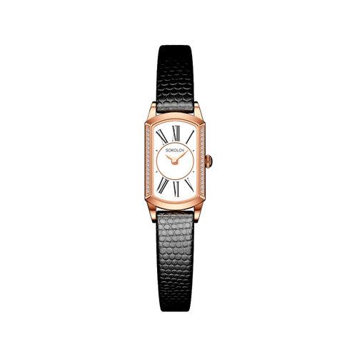 Женские золотые часы (222.01.00.100.01.01.3) - фото №2