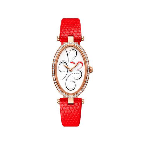 Женские золотые часы (236.01.00.100.03.03.2) - фото №2