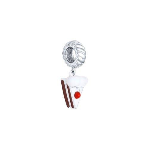 Подвеска-шарм из серебра с эмалью (94031653) - фото