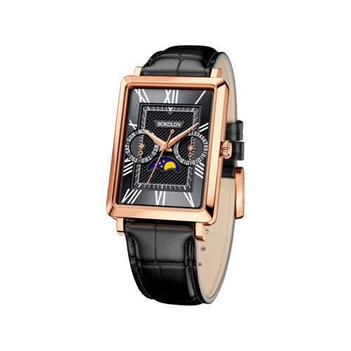 Мужские золотые часы (233.01.00.000.02.01.3) - фото