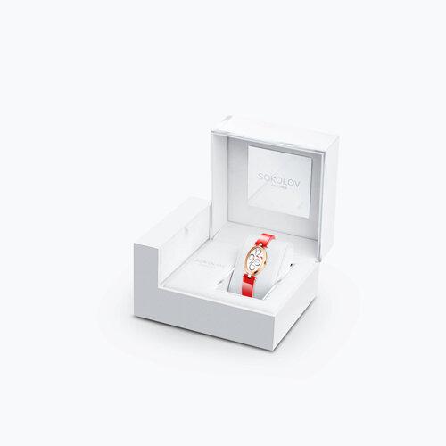 Женские золотые часы (235.01.00.000.03.06.2) - фото №4