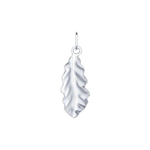 Подвеска «Лист» из серебра (94031699) - фото
